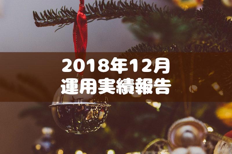 2018年12月運用実績報告