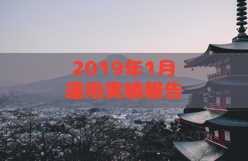 2019年1月運用実績報告