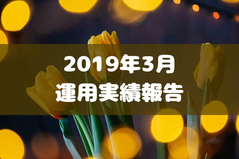 2019年3月運用実績報告